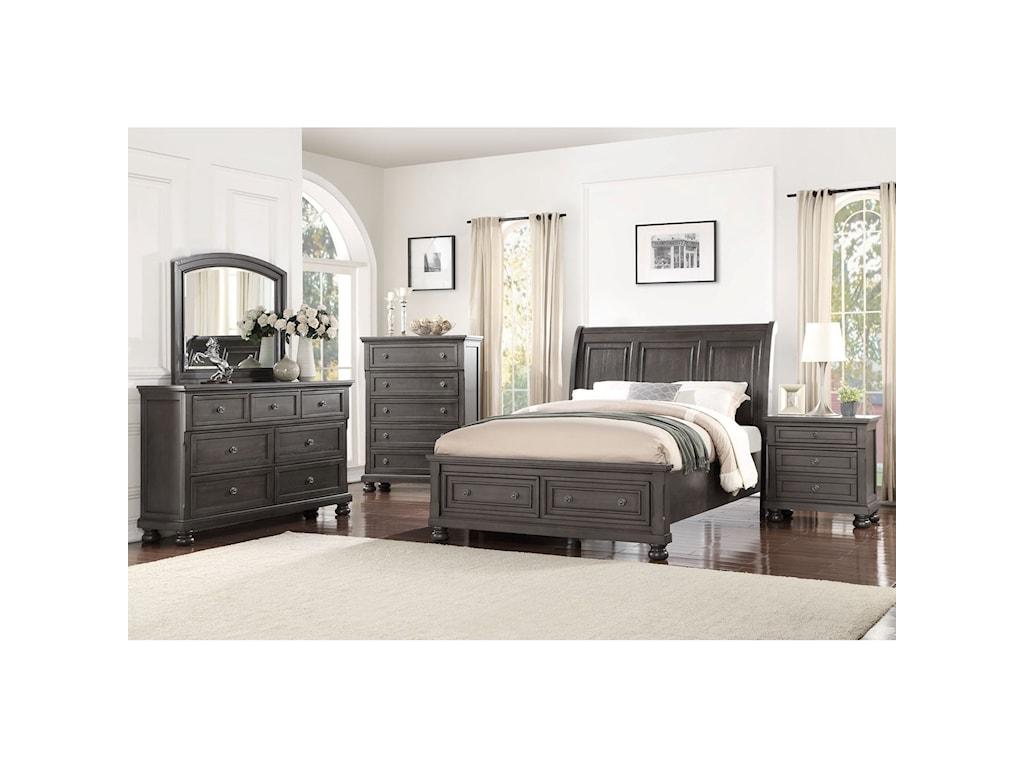 Avalon Furniture StellaDresser + Mirror Set