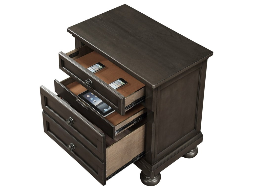 Avalon Furniture Stella2-Drawer Nightstand w/ Hidden Drawer W/ USB