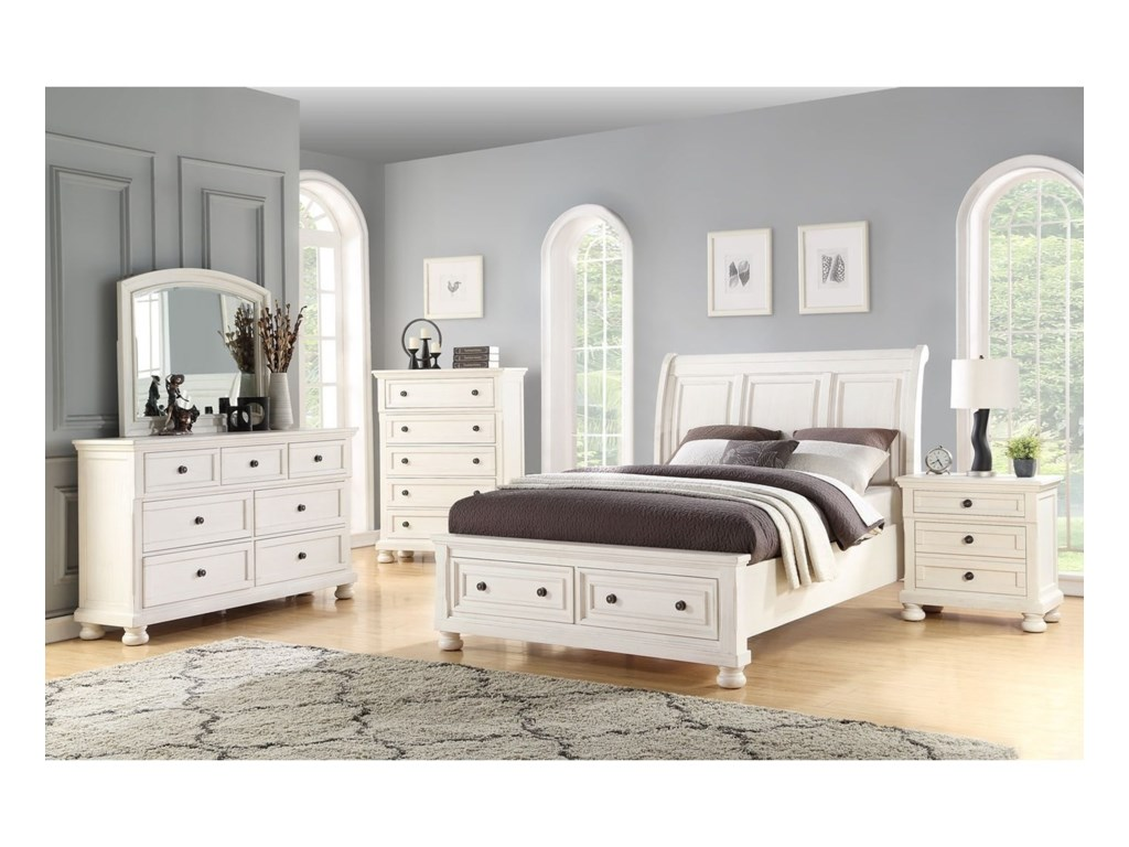 Avalon Furniture Savannah2-Drawer Nightstand w/ Hidden Drawer W/ USB