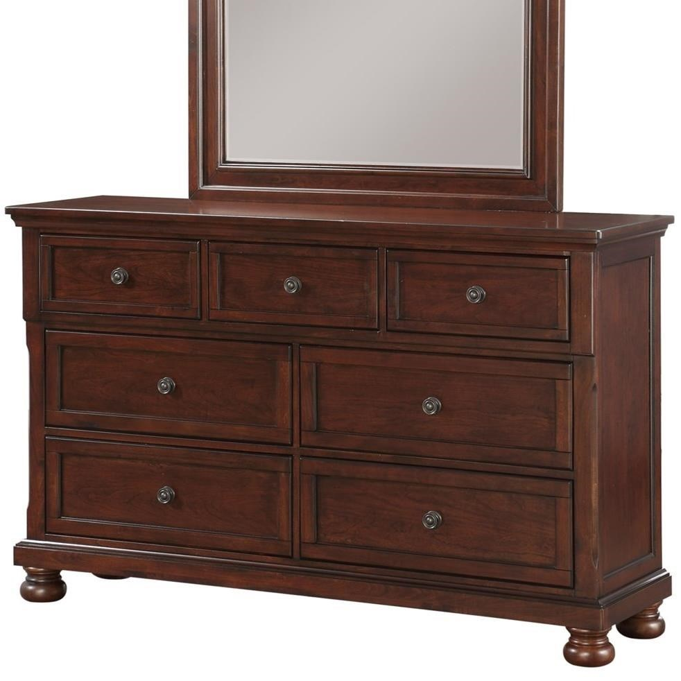Sophia B0961n Traditional Seven Drawer Dresser With Hidden Jewelry