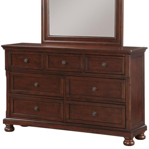 Avalon Furniture Sophia B0961n Traditional Seven Drawer Dresser With