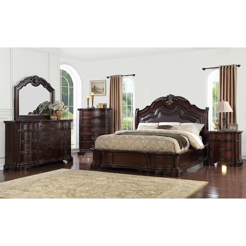 Avalon Furniture St Louis Queen Bedroom Group