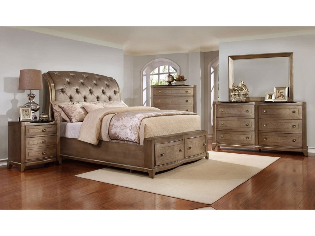 Avalon Furniture UptownQueen Bedroom Group