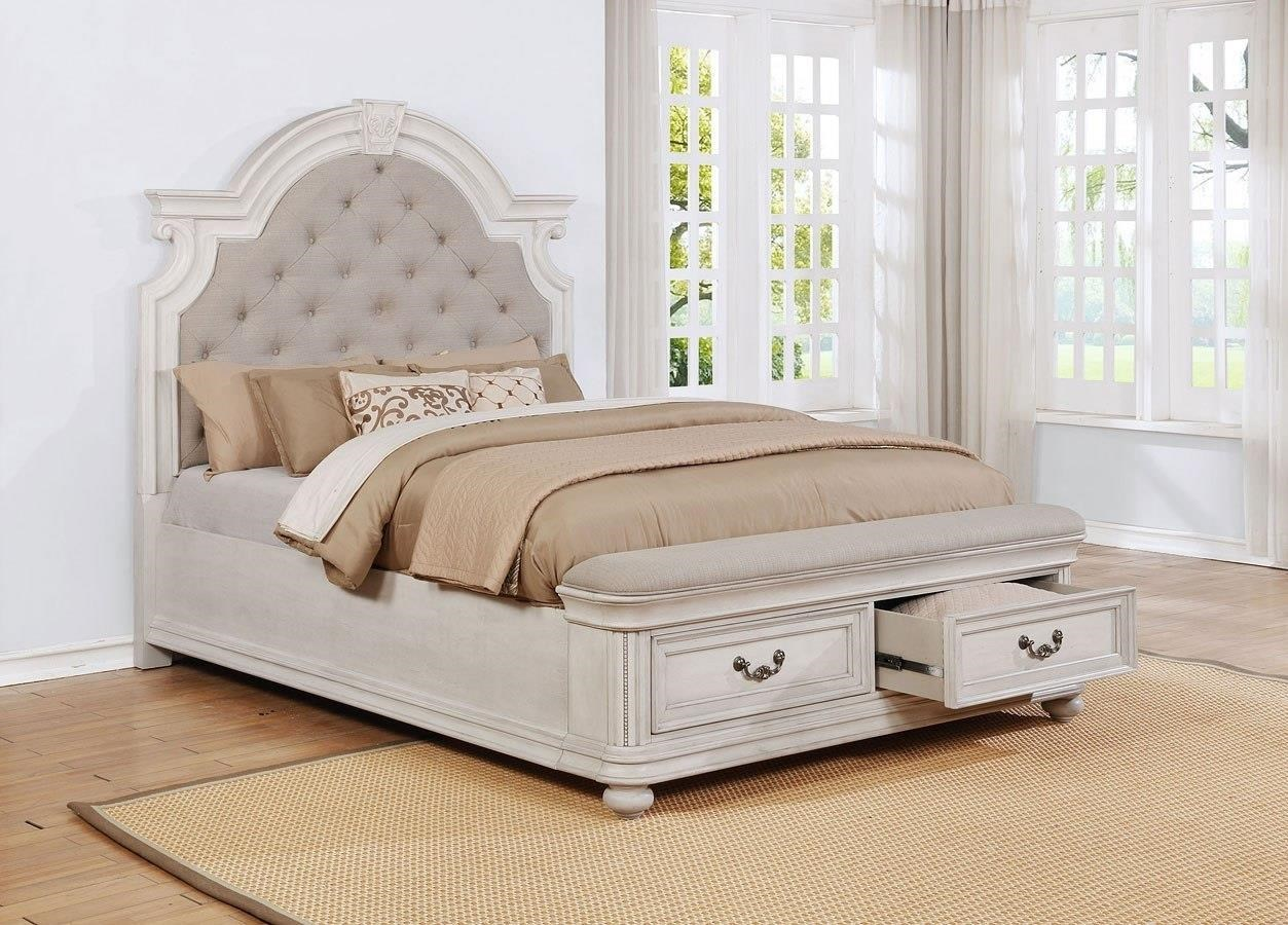 Picture of: Avalon West Chester King Upholstery Storage Bed Royal Furniture Upholstered Beds