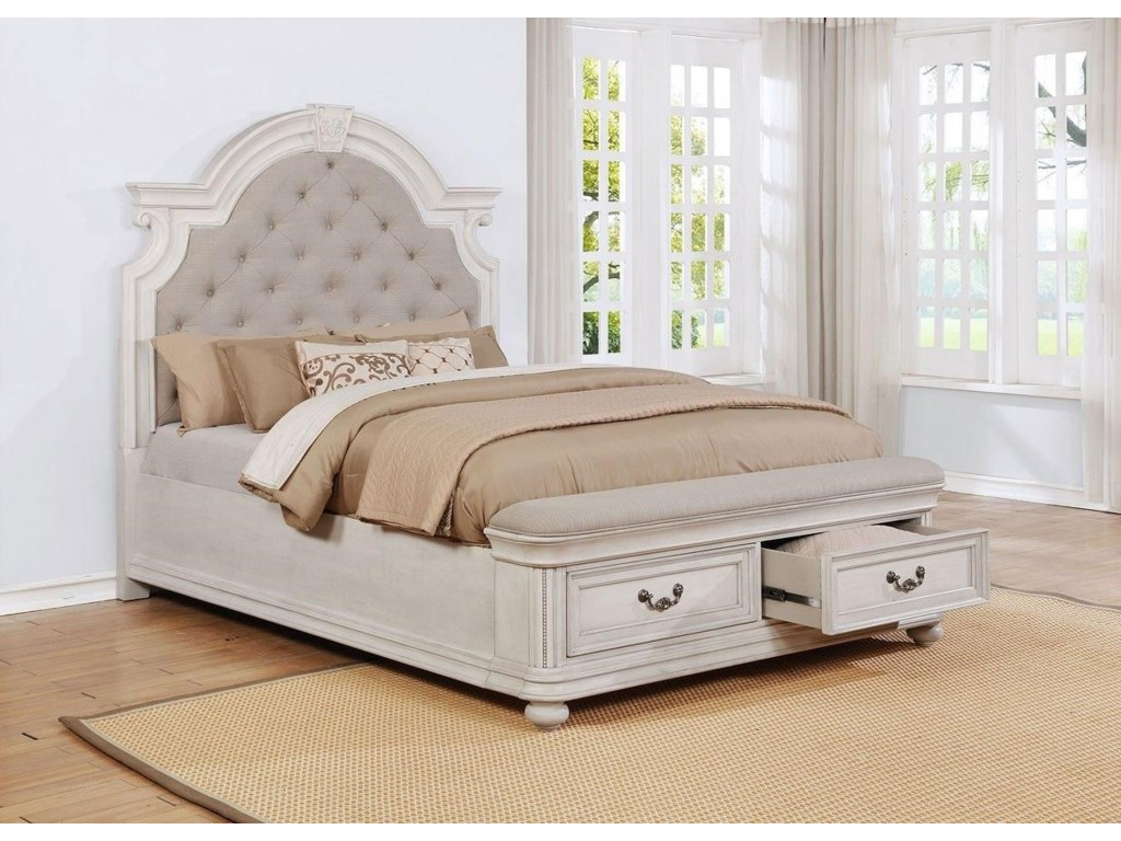 Avalon West ChesterKing Upholstery Storage Bed