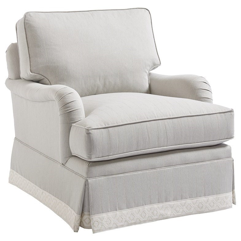 Blaire Traditional Chair with Kick Pleat Skirt
