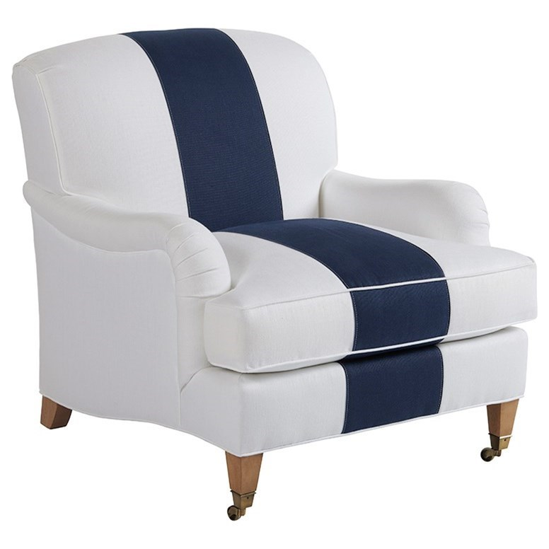 Barclay Butera Barclay Butera UpholsterySydney Chair With Brass Caster ...