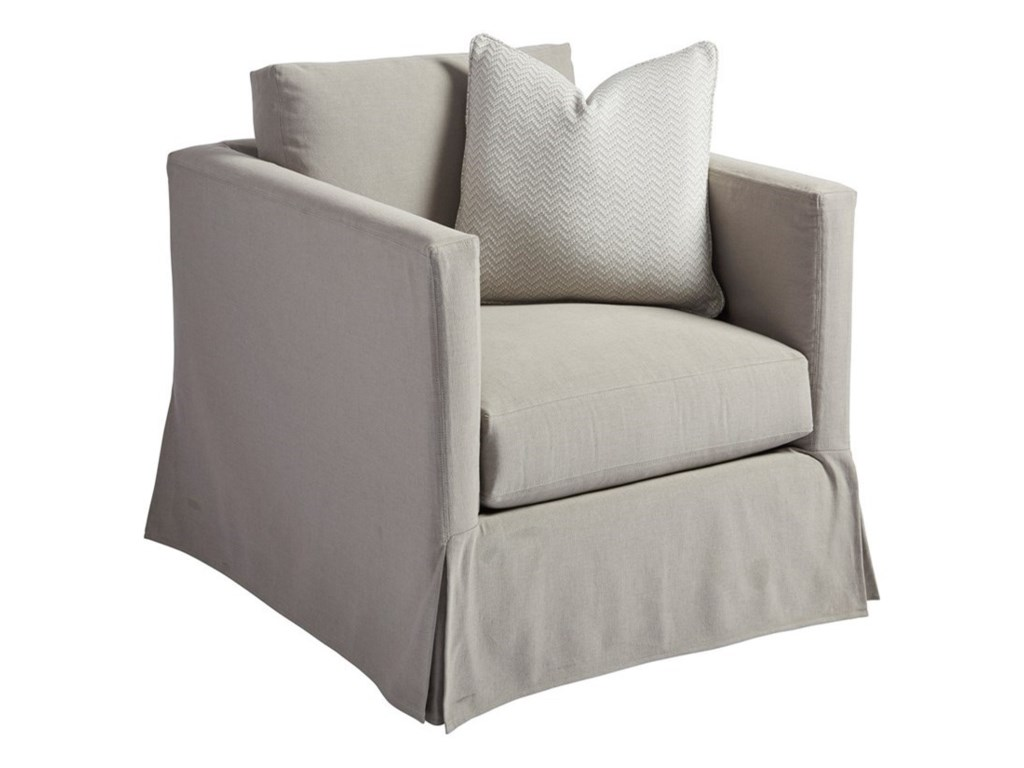 Barclay Butera Barclay Butera UpholsteryMarina Gray Slipcover Chair
