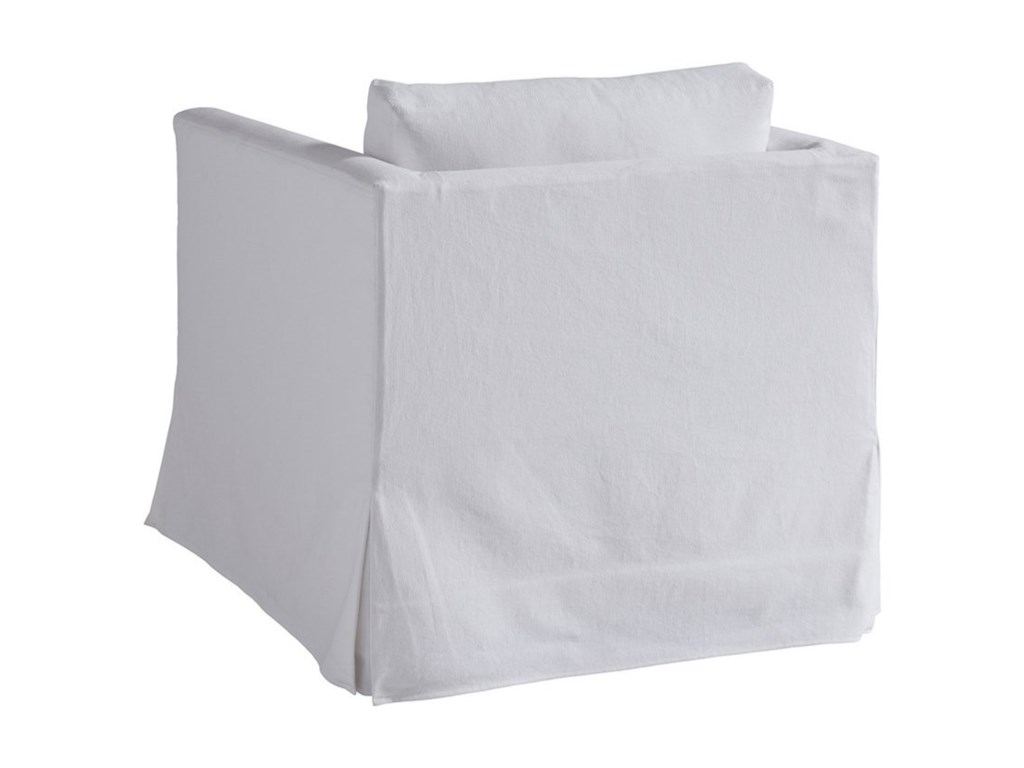 Barclay Butera Barclay Butera UpholsteryMarina White Slipcover Swivel Chair