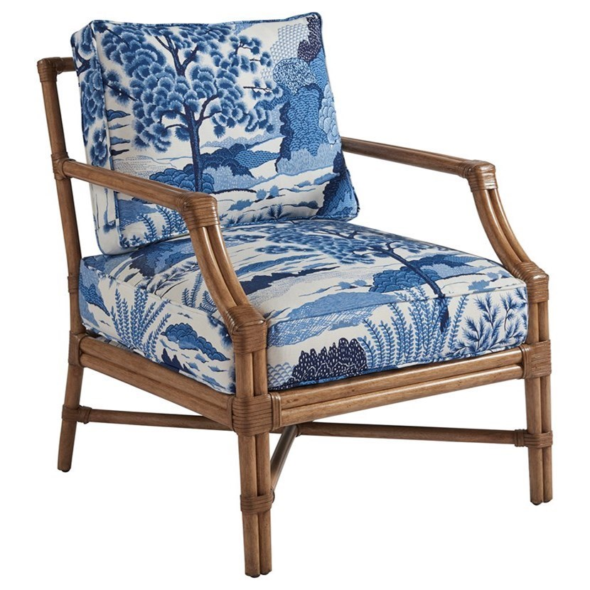 Redondo Tropical Chair with Woven Rattan and Abaca
