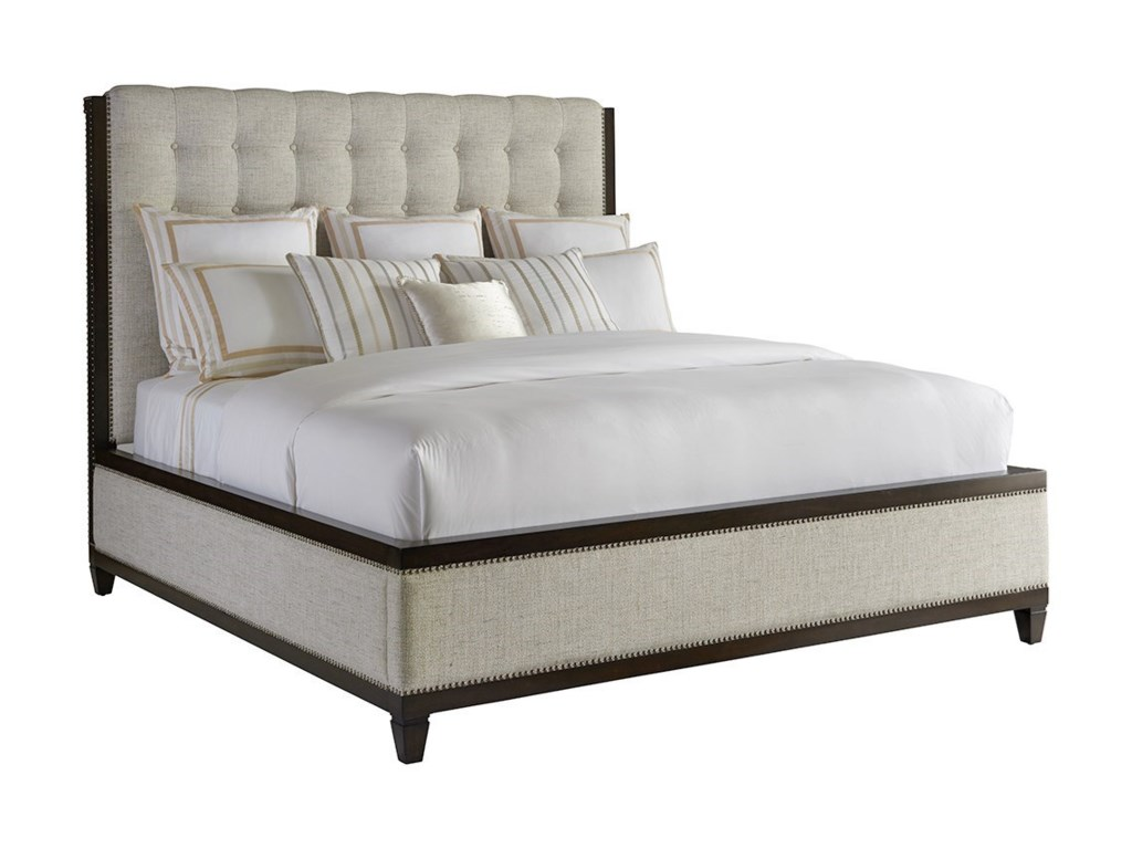 Barclay Butera BrentwoodBristol Custom Tufted Upholstered King Bed