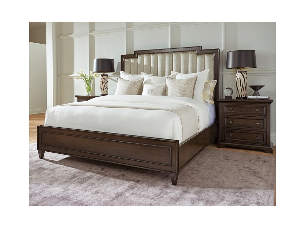 Barclay Butera BrentwoodRiviera Channeled Custom Uph King Bed