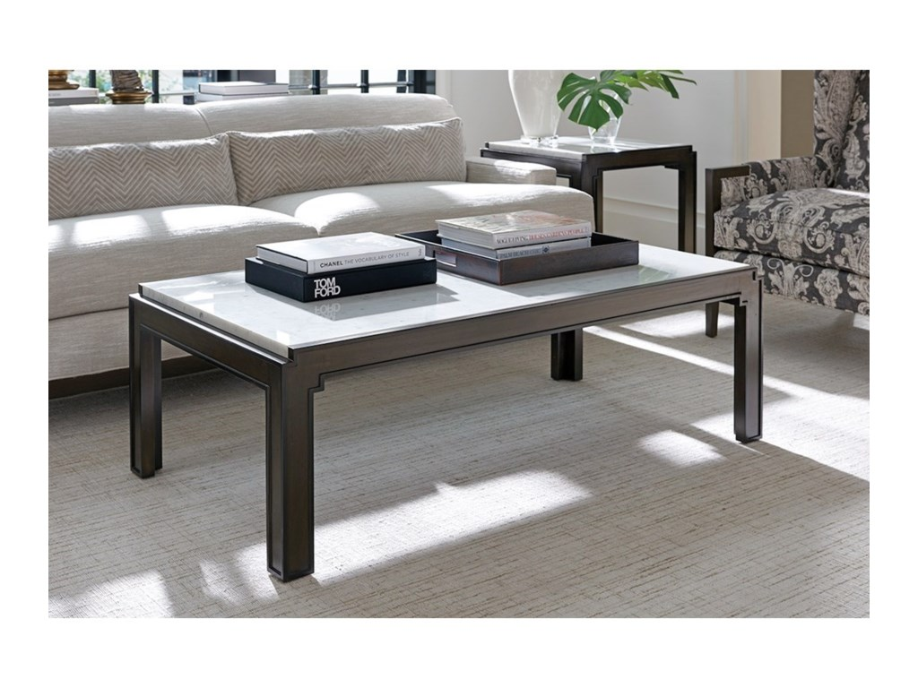 Barclay Butera BrentwoodDoheny Rectangular Cocktail Table
