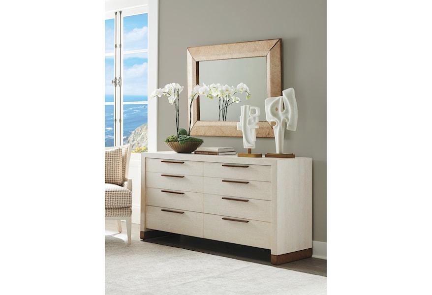 Barclay Butera Carmel 302711684 Bluff 8 Drawer Double Dresser Baer S Furniture Dressers