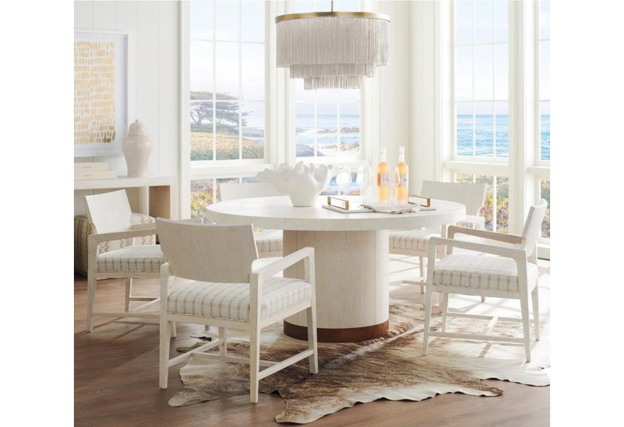 Barclay Butera Carmel 6 Piece Dining Set With Selfridge Table And Ridgewood Chairs Belfort Furniture Dining 5 Piece Sets