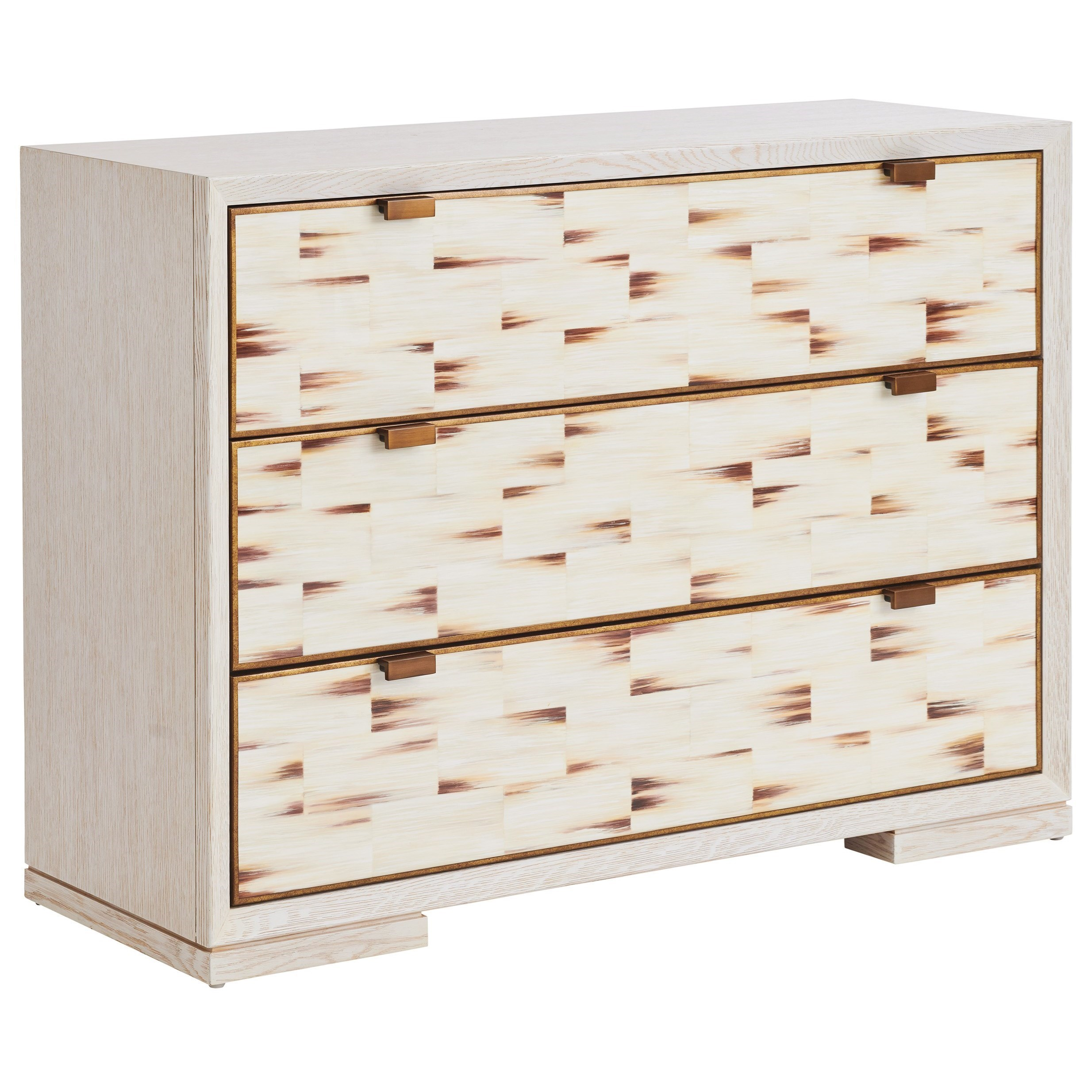 Dry Creek 3-Drawer Hall Chest with Faux Horn