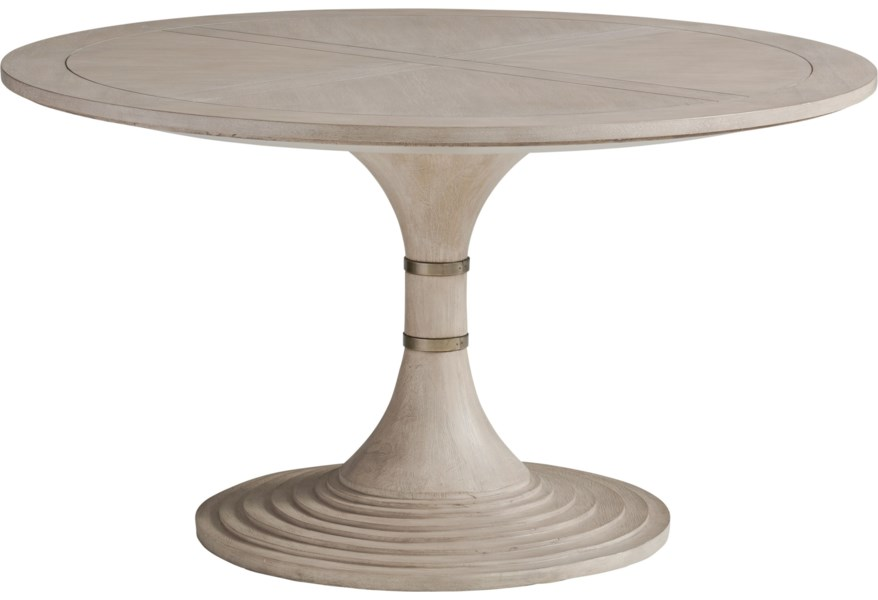 Barclay Butera Malibu 926 870c Topanga 54 Inch Round Dining Table Baer S Furniture Kitchen Tables