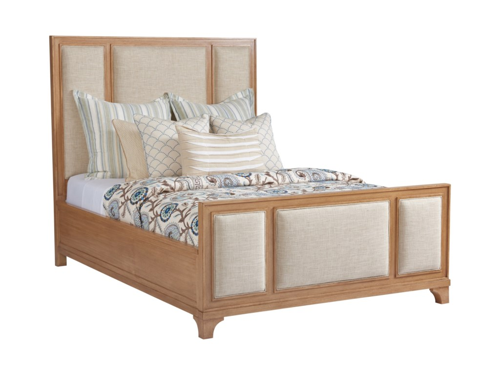 Barclay Butera NewportCrystal Cove Upholstered Panel Bed 5/0 Queen