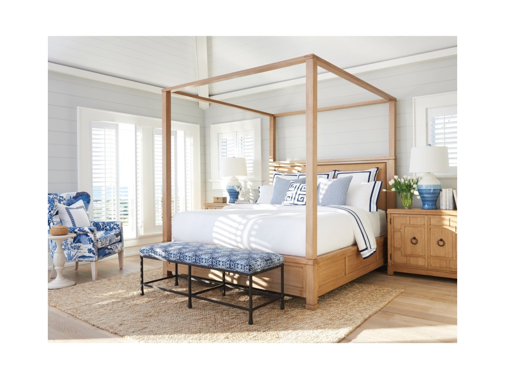 Barclay Butera NewportShorecliff Canopy Bed 6/6 King