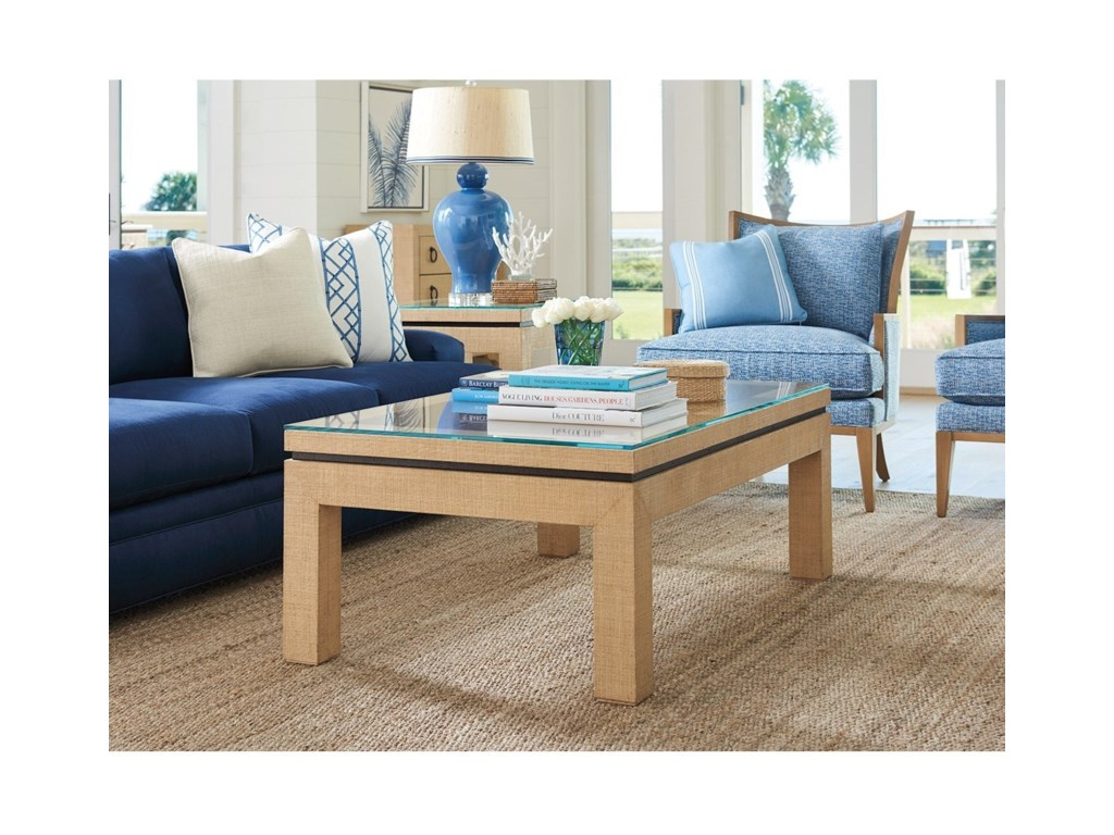 Barclay Butera NewportHarbor Raffia Cocktail Table