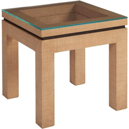 Harbor Raffia Lamp Table