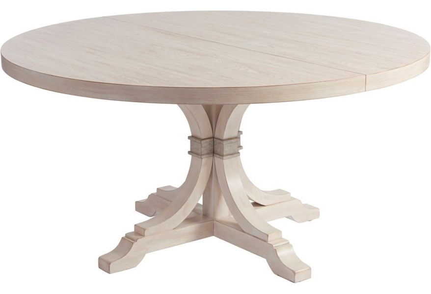 Barclay Butera Newport Magnolia 60 Round Dining Table With Table Extension Leaf Belfort Furniture Kitchen Tables