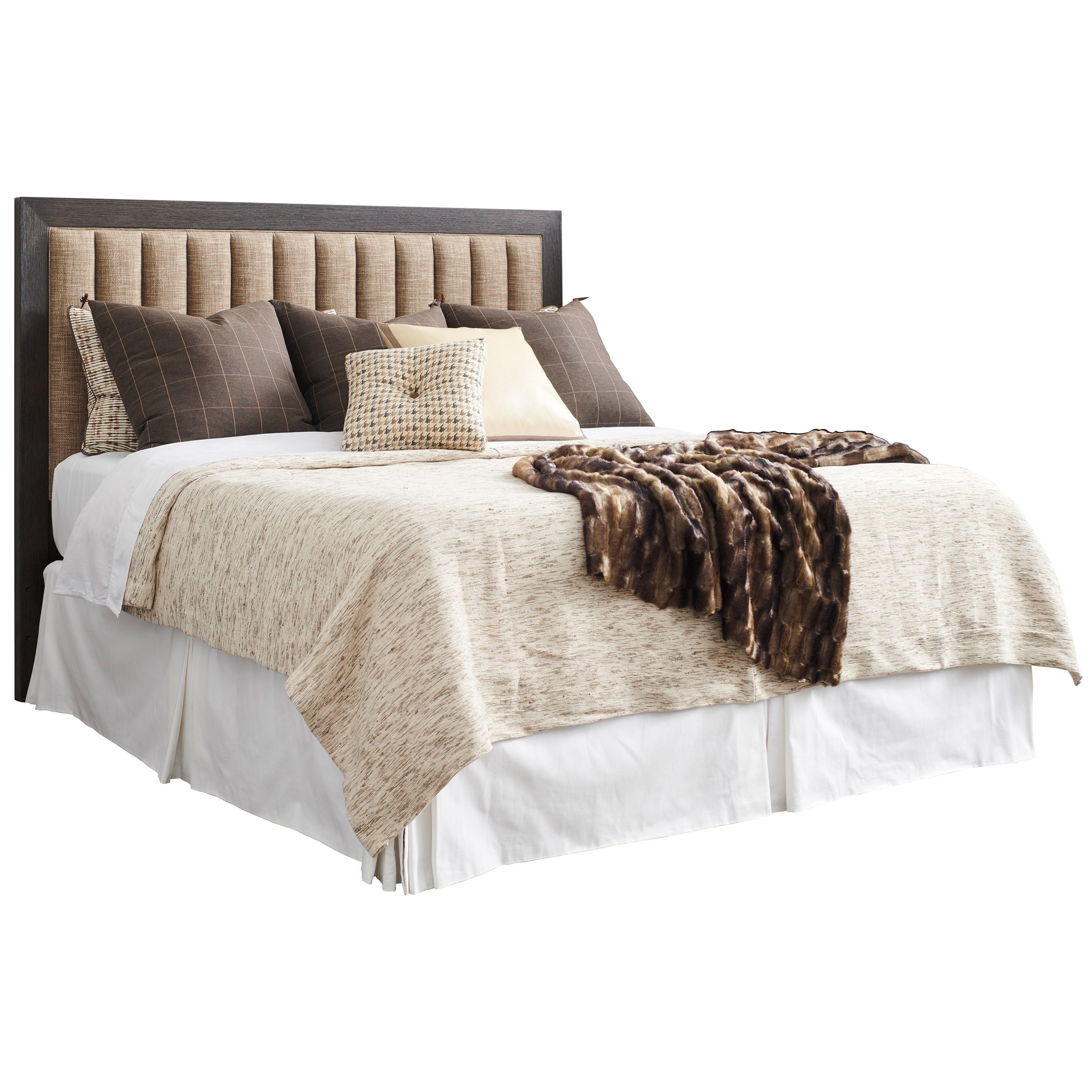Talisker Queen Upholstered Headboard with Channel Tufting
