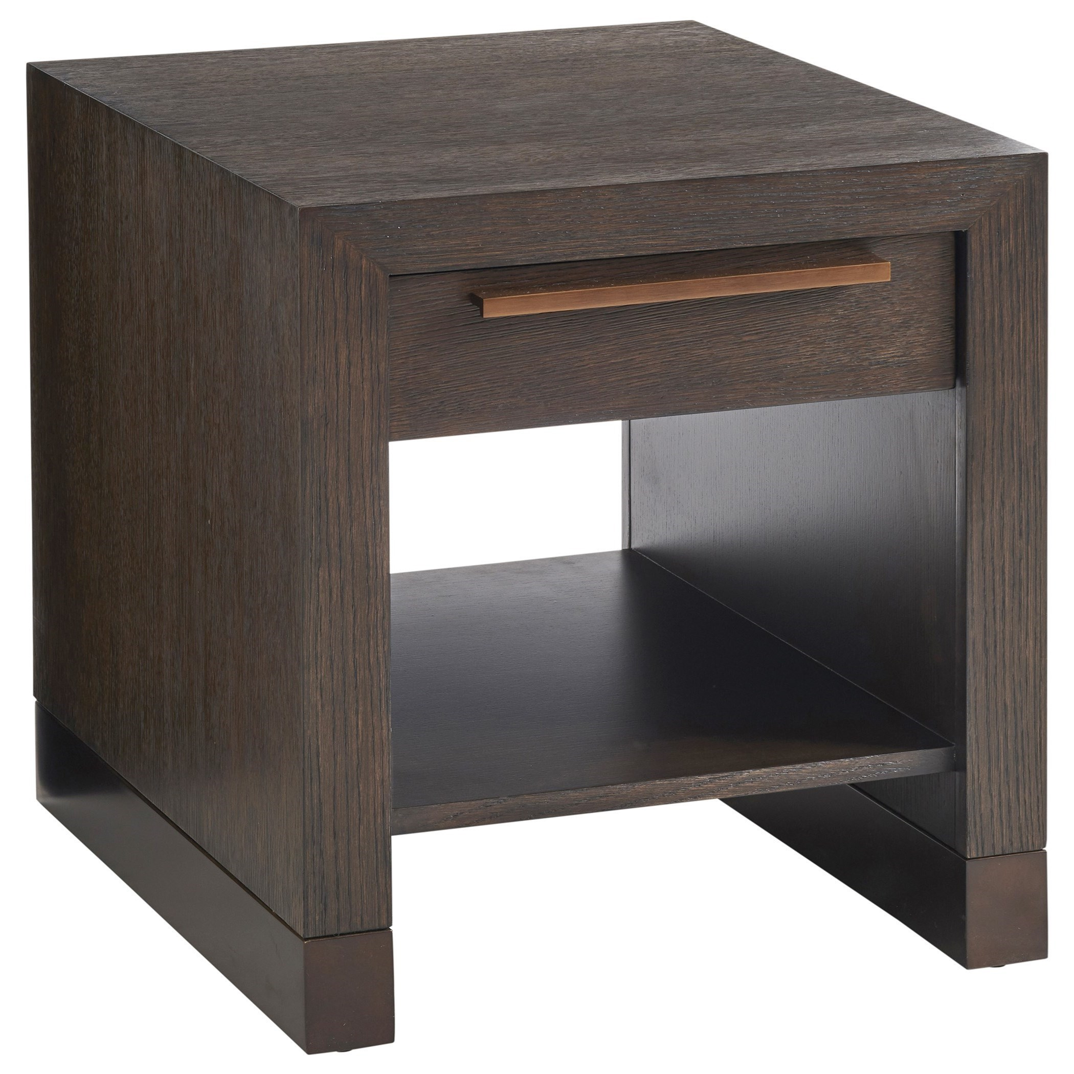 Heber End Table with Drawer and Shelf