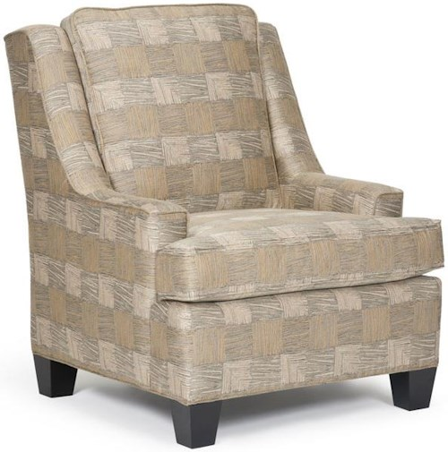 Barrymore Leo Transitional Chair with Sloping Track Arms