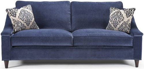 Barrymore Louisville Transitional Stationary Sofa with Tapered Wood Feet