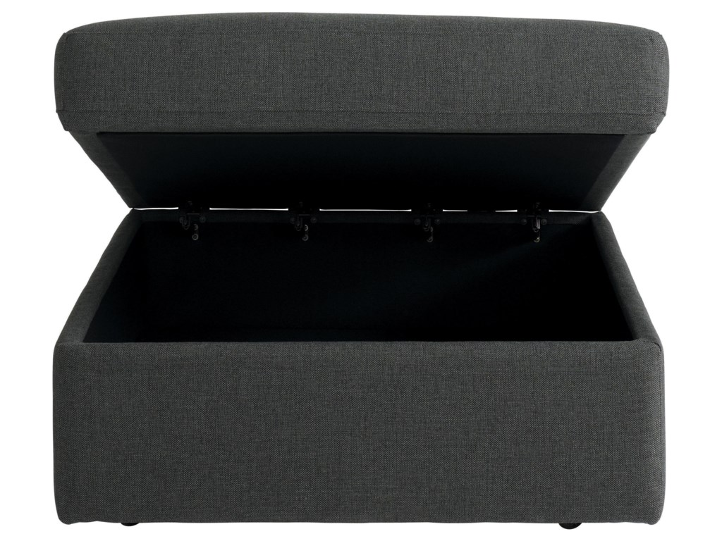 Bassett BeckhamStorage Ottoman in Charcoal