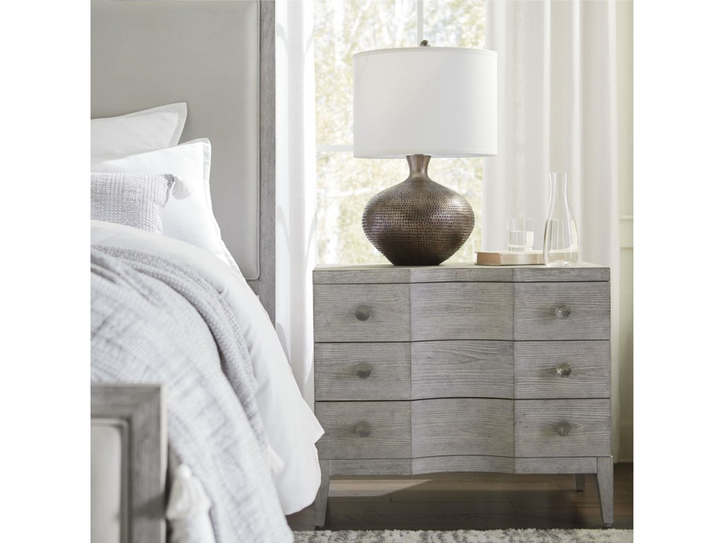 Bassett SavoyKing Panel Bed, Dresser, Mirror & Nightstand