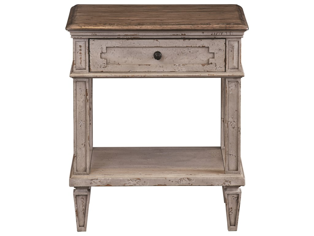 Bett Verona Rustic Bedside Table With Outlet And Usb Ports