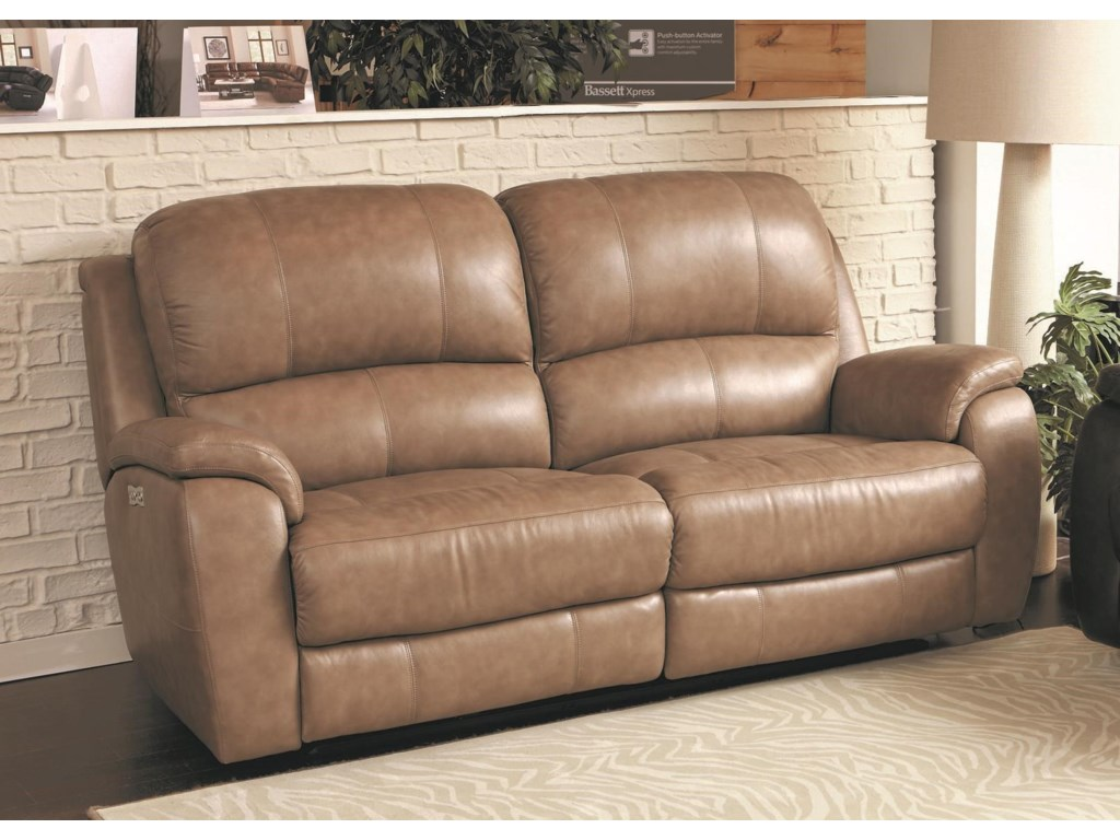 sofa power sofas recliner reclining recline leather connery aspen durant