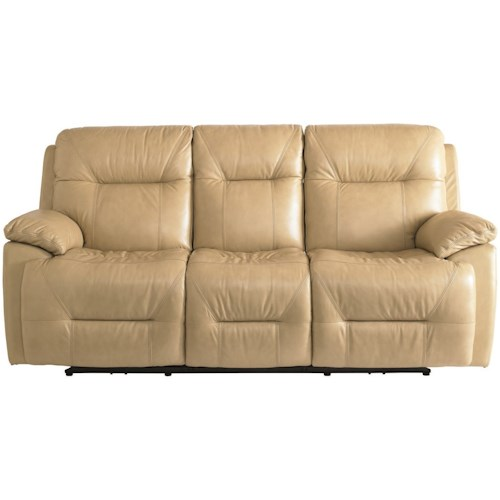 Bassett Epic Casual Power Reclining Lay-Flat Sofa with Power Headrests & USB Ports