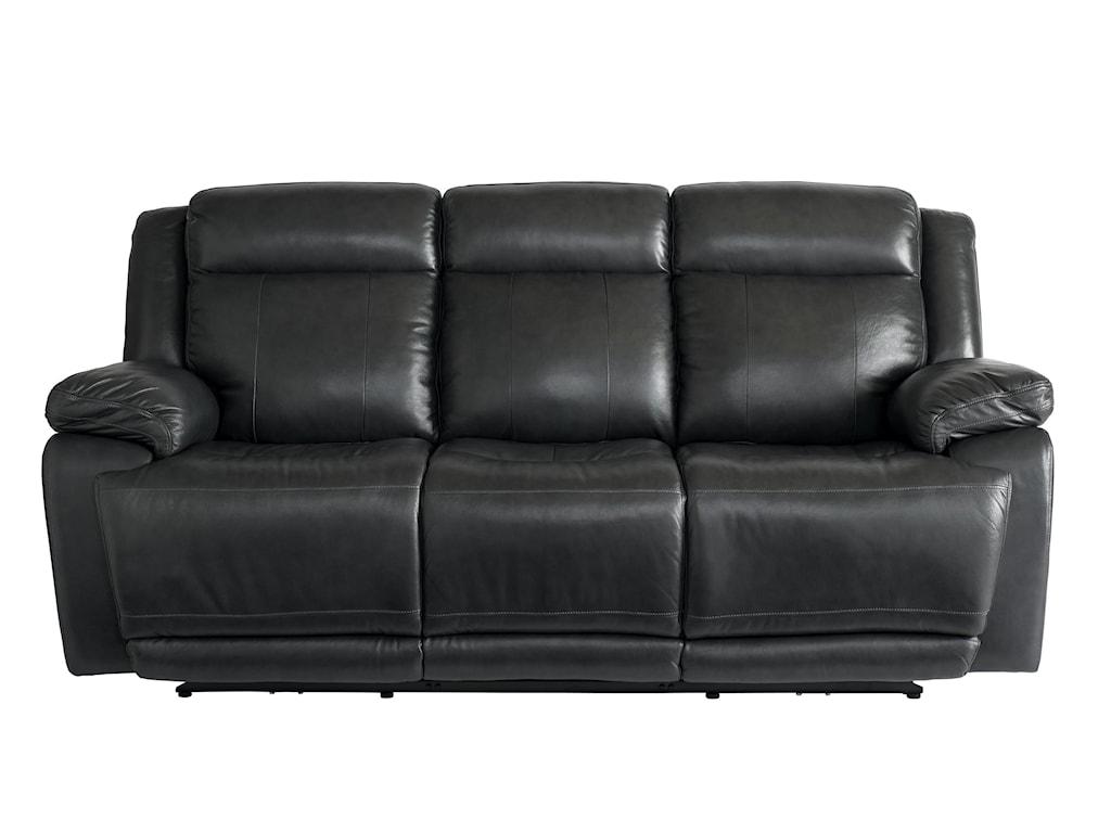 Bassett Club Level EvoLeather Pwr Reclining Sofa w/Pwr Head & Foot