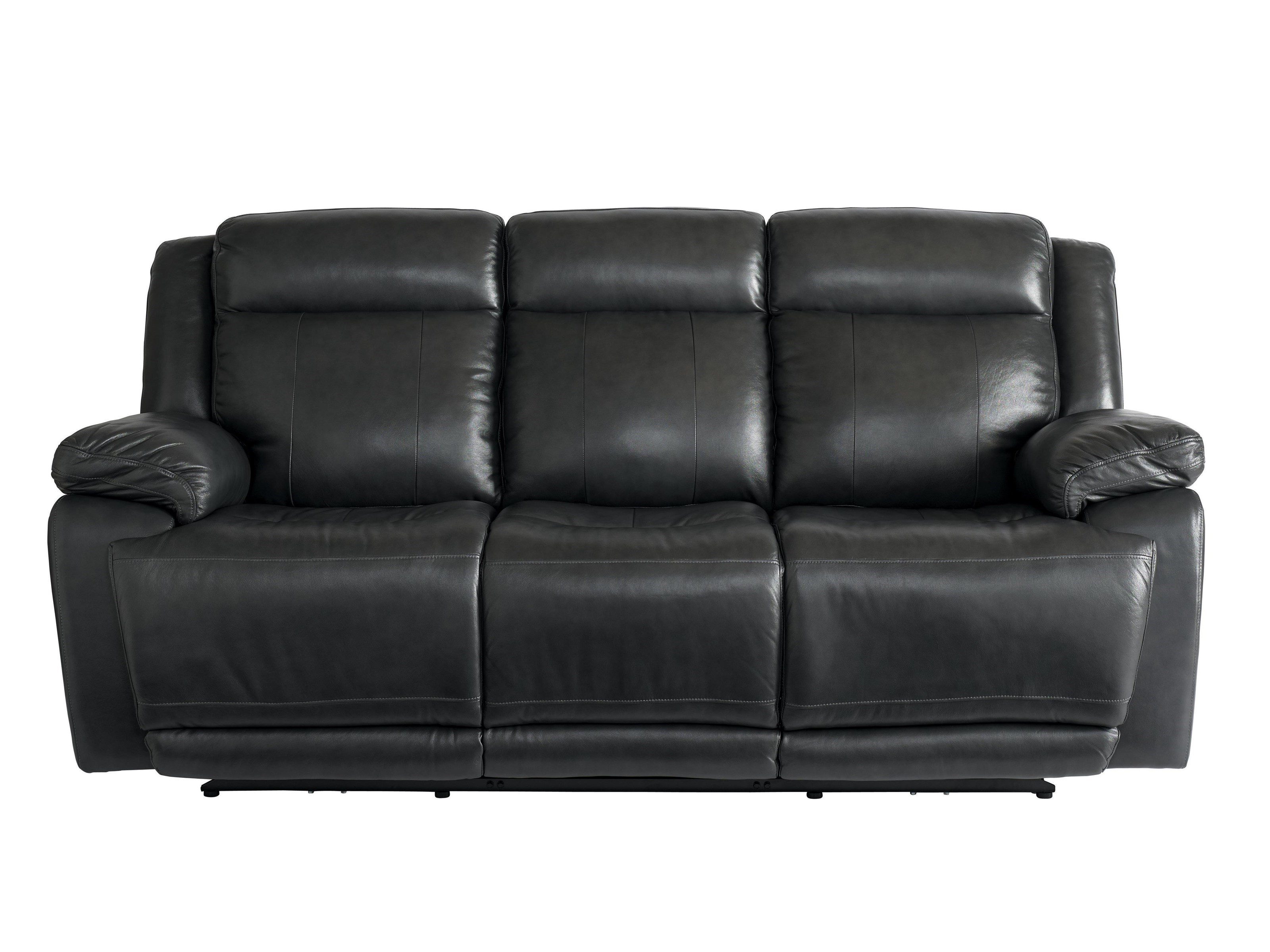 Etonnant Bassett Club Level Evo Graphite Leather Power Reclining Sofa With Power  Head U0026 Footrests