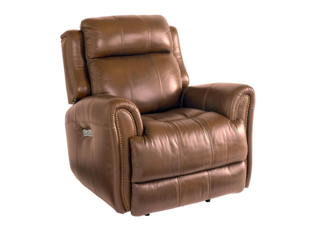 Bassett MarqueeLeather Pwr Wall Recliner w/Pwr Headrest