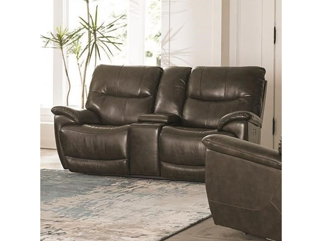 Bassett BrookvilleConsole Power Reclining Love Seat