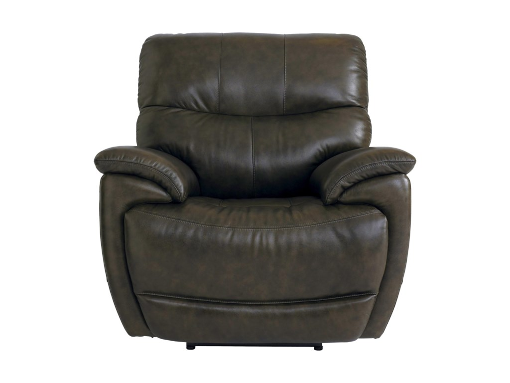 Bassett BrookvilleLeather Recliner With Power Head and Foot Re