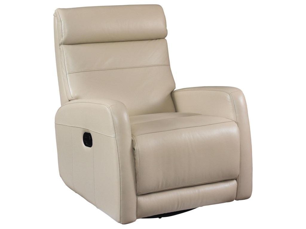 Bassett NewportSwivel Glider Recliner in Taupe Leather