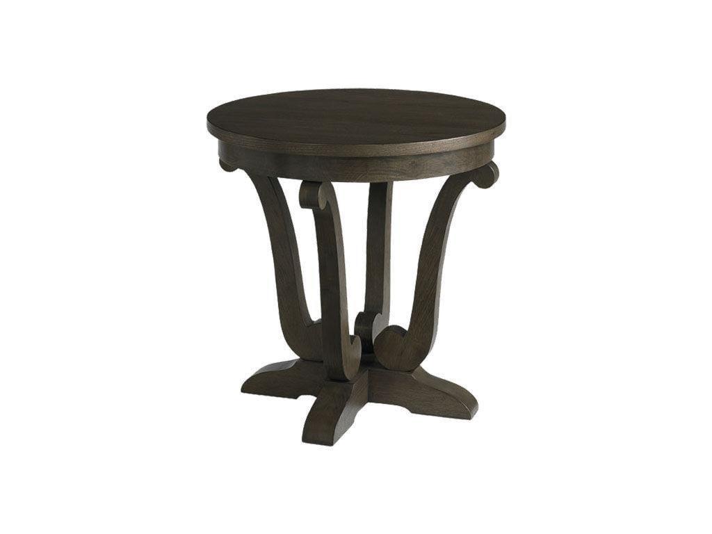 Bassett Provence EspressoRound Lamp Table