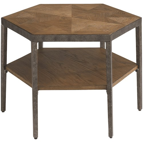 Bassett Bratton Contemporary Hexagon Bunching Cocktail Table
