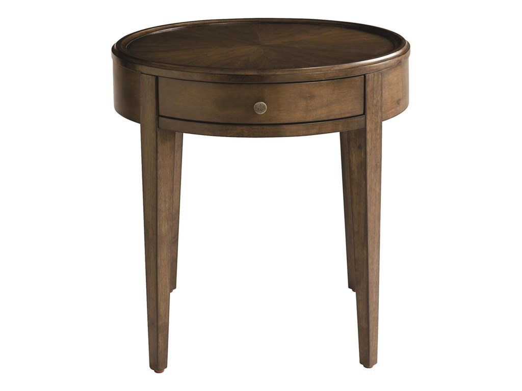 Bassett PalisadesRound Lamp Table