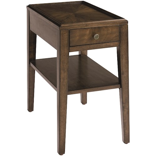 Bassett Palisades Contemporary Rectangular Chairside Table