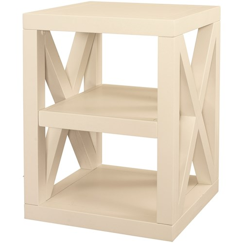 Bassett Axis End Table with Fixed Shelf