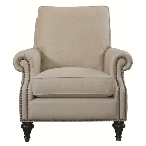 Bassett Accent Chairs Oxford Accent Chair with Traditional Style