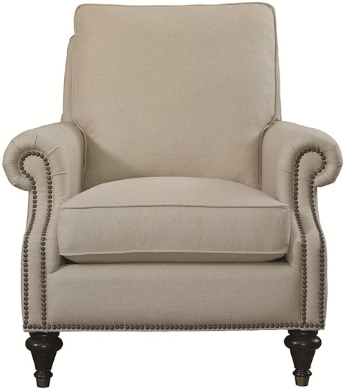 Bassett Accent Chairs by Bassett Oxford Accent Chair with Traditional Style