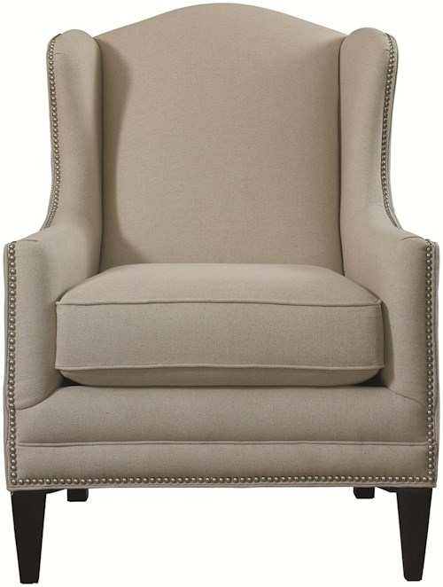 Bassett Accent Chairs Fleming Accent Chair with Wing Back