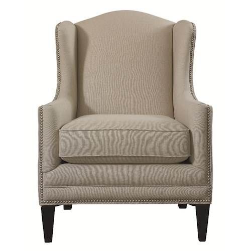 Bassett Accent Chairs by Bassett Fleming Accent Chair with Wing Back